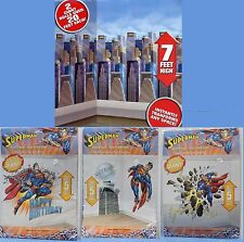 4-SET SUPERMAN SCENE SETTERS Wall Decoration Birthday Party Kids Asteroid NEW