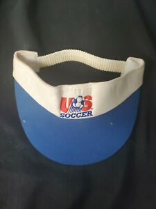 USA Soccer White Visor Hat Stretch Fit One Size