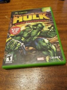 Incredible Hulk: Ultimate Destruction (Microsoft Xbox, 2005) CIB Complete Tested