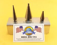 Step Drill Bit Set HI-Molybdenum M7 Step Bit UNIBIT Drill Hog Lifetime Warranty