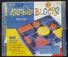 Attribute Blocks Desk Set By Learning Resources - LER 1270 - NEW/FACTORY SEALED