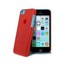 Coque housse étui Crystal Extra fine 0.8mm Pour iPhone 5C Rouge