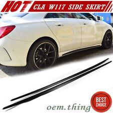 IN LA STOCK Matte Black Mercedes BENZ CLA W117 4D Side Skirt Cover BodyKit 14-17