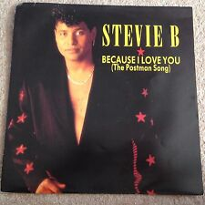 "STEVIE B - BECAUSE I LOVE YOU (THE POSTMAN SONG) - 12"" SINGLE  VINYL"