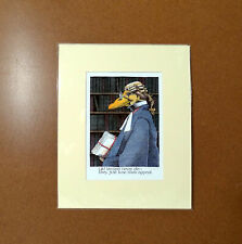Old Lawyers Simon Drew Print Mounted Signed Entertaining Art