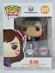 Games Funko Pop - D.VA (Diamond Glitter) - Overwatch - No. 492 - Free Protector
