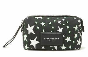 Marc Jacobs Flocked Stars Printed Biker Landscape Pouch in Black Multi