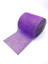 Sparkly Diamante Effect Ribbon Purple Colour Trim Sewing Wedding Crafts UK