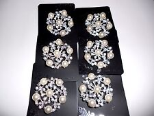 6 pcs pretty Vintage  Brooches/pin  for Wedding .
