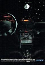 Publicité Advertising 089  2001  Fiat  Punto Steel  multi cd en série