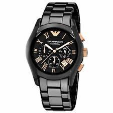 *NEW* EMPORIO ARMANI AR1410 CERAMICA BLACK ROSE MEN'S WATCH - RRP £499.00