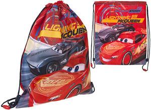Kids Boys Children's Disney Cars - Sports Pull String Trainer Swin PE Gym Bag