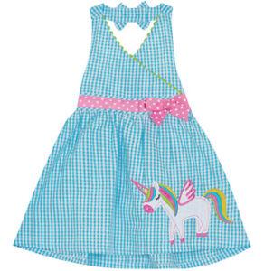 New! EMILY ROSE Seersucker Little Girl's Unicorn Sundress, Blue, Pick Size