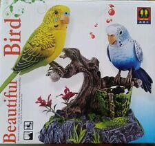 BEAUTIFUL 2PCS TALKING PARROT REPEATS BIRD VOICE SOUND RECORDER PEN HOLDER TOY