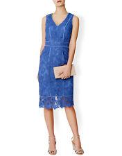 MONSOON CHEYANNE BLUE LACE SLEEVELESS DRESS SIZE UK 8 RETAIL £129