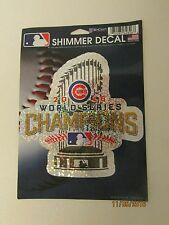Chicago Cubs, WORLD SERIES CHAMPIONS, 2016, SHIMMER DECAL. 5 Inches X 5 inches
