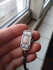 Boston Watch Co 14k White Gold Art Deco Ladies Wristwatch