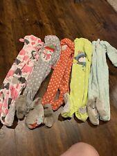 Carters Pajamas 2t Fleece Zipper Lot Of 5 24 Months Girls