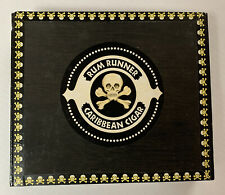 Rum Runner Caribbean Cigar Pirate Box Black With Skull  Crossbones Design Rare