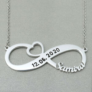 Infinity Name Necklace Personalised Infinity Necklace Custom Name Necklace