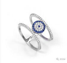 sterling silver 925 evil eye ring Size N & P