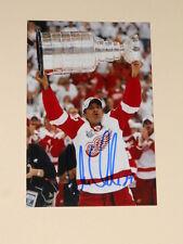 Detroit Red Wings CHRIS CHELIOS Signed 4x6 Photo NHL AUTOGRAPH 1C