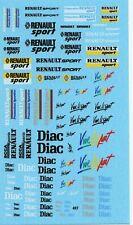 Decalbogen Renault Sport Diac-Vive le Sport 1:18-24-32-43 (497)