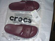 Crocs Men's Bayaband Slide Burgandy/Navy/White CHOICE SIZE Relaxed Fit NWT