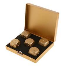Spielwürfel - 5 Dice + Dice Box Aluminiumlegierung Gold Würfel