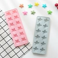 12 Cell Stars Chocolate Mold Candy Silicone Mould Cake Wax Melt Ice Mould New UK