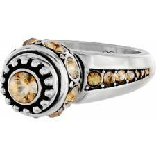 NWT Brighton ANNA TWIST Ring Interchangable Charms TOPAZ Size 5  MSRP $48