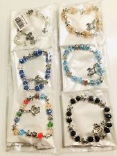 Wholesale 12pcs Mix Colors Diamond RhineStone Turtles Charms Bracelet Bangle Set