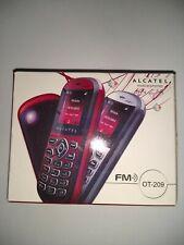 Alcatel OT-209 débloqué noir/argent téléphone portable Boxed