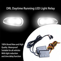 DRL Controller Auto Car LED Daytime Running Light Relay Harness Dimmer On/Off