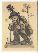 CARTE POSTALE ILLUSTRATEUR HUMMEL N° 621250 DER GROSSE KONTRABASS LITTLE CELLIST