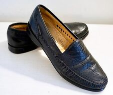 Men's Mezlan Rapallo Perforated Leather Loafer Dress Shoes, Made in Spain 9 1/2M