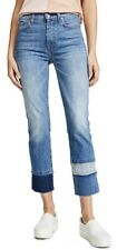 BNWOT 7 FOR ALL MANKIND jeans wmn Edie tiered/frayed hem in vintage blue szUS27