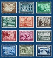 Nazi WWII Germany 3 Reich Rare WW2 Stamps 1939 Hitler Camaraderie Party Full Set