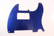 Brushed Blue Anodized Aluminum Humbucking Tele Pickguard Fits Fender Telecaster