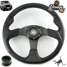 Land Rover Defender Black Motorsport 340mm Steering Wheel & 48 Spline Boss Kit