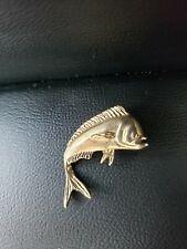 Pendant Angler Jewlery Not Scrap Nautical Vintage Solid 14K Gold Mahi Mahi Fish