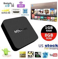 New MXQ-4K Android 7.1 Quad Core Smart TV BOX 1GB+8GB Wifi Media Player HDMI US
