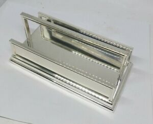 Pottery Barn silver colored mail holder