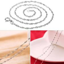80pcs Silver Plated Wave Pendant Necklace Women Chains New Jewelry