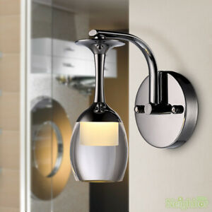 New Modern LED Crystal Wineglass Wall Lamp Wall sconce  Bedside Light lighting
