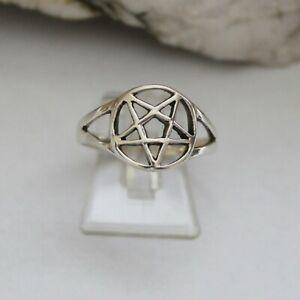 Pentagramm Ring 925er Silber 925 Sterlingsilber