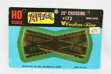 Atlas Model Railroad HO Scale #172 25 degree Crossing Nickel Silver Track Black