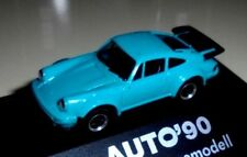 """car 1/87 HERPA PORSCHE 911 TURBO TYP 930 1974 TURQUOISE """"AUTO,93"""" -ver/see-"""
