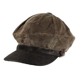 Corduroy Gatsby Golf Cotton Slouchy Newsboy Cabbie Cap Hat Mens Womens Unisex