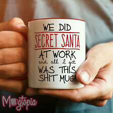 SECRET SANTA... Shit Mug - Xmas Christmas Gift Office Funny Novelty Rude Coffee